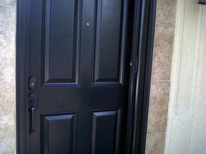 Black Roll-Away Retractable Screen Door