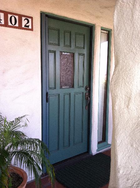 green_patina_custom_color_roll_away_retractable_screen_door