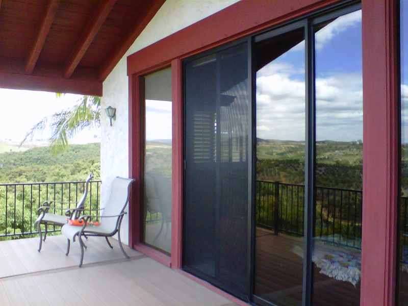 Bronze Tall Sliding Screen Door