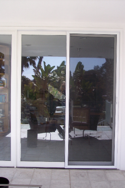 White Legacy Sliding Screen Door