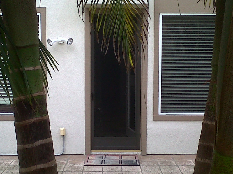 Bronze Full View Swinging Screen Door