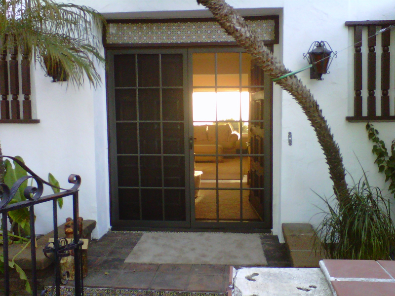 Bronze French Colonial Swinging Screen Doors