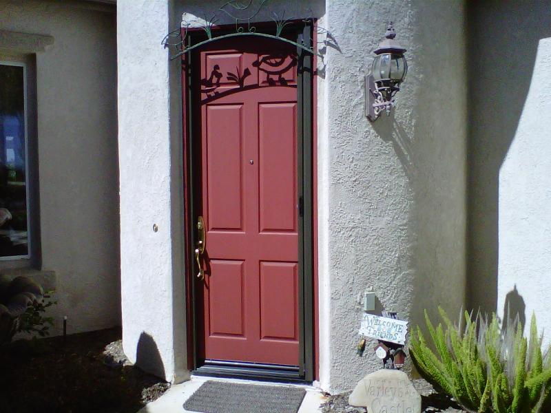 Bronze Roll-Away Retractable Screen Door