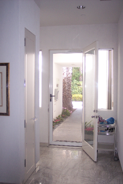 White Tru-View Security Screen Door from the inside