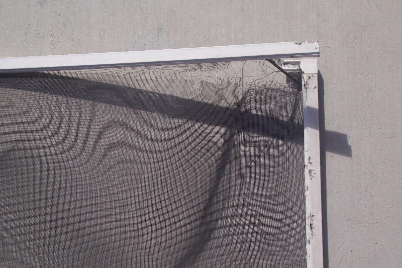 broken plastic corner so needs new window screen frame and screen replacement